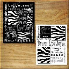 Zebra Print Decor Wall Art INSPIRATION Live by collagebycollins