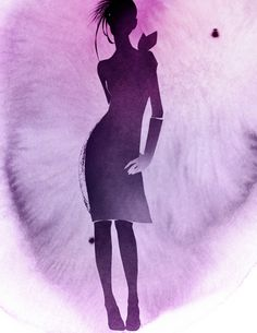 Модные картины акварелью от Kareem Iliya 55 (541x700, 276Kb)