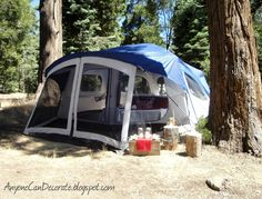 A GLAMPING We Will Go - A specialty tent is not needed, this is a standard camping tent turned Glamping tent with comfy accessories.