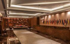 Kempinski Hotel in Shahdara, Delhi, India designed by Hirsch Bedner Associates (HBA). Lighting design by Illuminate.