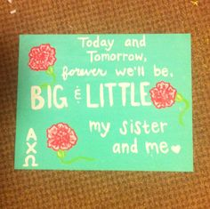 Big and Little gift #sorority #biglittle #crafts