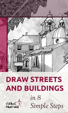 Drawing architecture and urban sketching, can make for fascinating art, especially if you follow some easy steps for composition, perspective and process. Thumbnail Sketches, One Point Perspective, Art And Hobby, Drawing Exercises, Vanishing Point, Urban Sketchers, Drawing Skills, Easy Drawings, Composition
