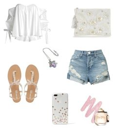 """""""White"""" by irissaa997 ❤ liked on Polyvore featuring Caroline Constas, 3x1, Head Over Heels by Dune, Kate Spade and Urban Decay"""