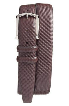 Free shipping and returns on Torino Belts Bulgaro Calfskin Leather Belt at Nordstrom.com. Fine diamond embossing textures a handsome belt crafted in rich bulgaro calfskin leather and secured with a polished nickel buckle.
