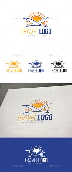 Travel Logo by DurArt LOGO TEMPLATE Logos are vector based built in Illustrator software. They are fully editable and scalable without losing resolutio