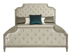 359-H09-F09-R09 Marquesa Upholstered Bed | Bernhardt King $3197.50 W 81 D 91 H 69 California Queen $2765 Gray Cashmere Assigned Fabric B331 Tufted