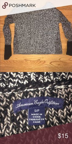American Eagle Sweater Short sweater! Only worn once. American Eagle Outfitters Sweaters Crew & Scoop Necks