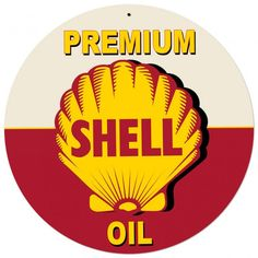 Shell Motor Oil Grunge Advertising Sign 28 x 28 Vintage Replica USA Made Steel Vintage Style Retro Gas Oil Garage Art Wall Decor by HomeDecorGarageArt on Etsy Advertising Signs, Vintage Advertisements, Wall Stickers, Vinyl Decals, Car Part Furniture, Automotive Furniture, Automotive Decor, Furniture Design, Pompe A Essence