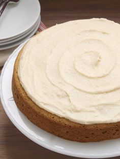 Vanilla Bean Cake with Browned Butter Icing is a simple cake with wonderful flavors. A great anytime cake! - Bake or Break