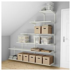 Ikea Algot Shelves - This Stylish Ikea Algot Shelves Ideas design was upload on November, 14 2019 by Elmer Emmerich. Here latest Ikea Algot Shelves design Ikea Algot, Attic Bathroom, Attic Rooms, Attic Spaces, Bathrooms, Attic House, Attic Floor, Attic Playroom, Attic Apartment