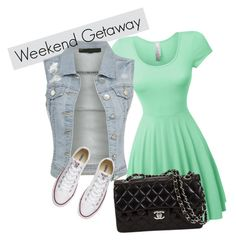 """""""lets go"""" by carlile3121 ❤ liked on Polyvore featuring LE3NO and Converse"""