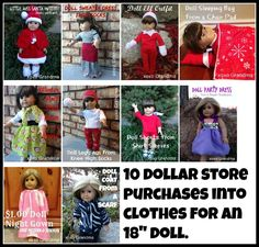 $1.00 Doll Night Gown - FREE PATTERN