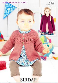 Sirdar - 4493 - Baby Girl's and Girl's Cardigan and Coat (birth - age 7)