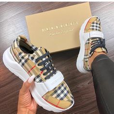 Rate these Burberry sneakers from Shop via the link in bio . Burberry Sneakers, Gucci Shoes Sneakers, Sneaker Store, Shoe Boots, Shoes Heels, Shoes Men, High Heels, High End Shoes, Cute Sneakers