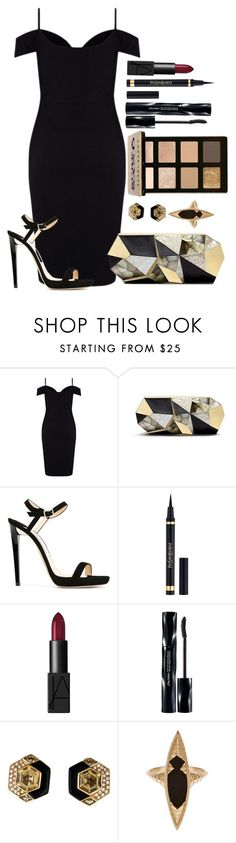 """Untitled #1455"" by fabianarveloc on Polyvore featuring Lipsy, Rafe, Jimmy Choo, Yves Saint Laurent, NARS Cosmetics, Bobbi Brown Cosmetics, Shiseido and Monique Péan"