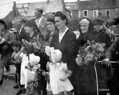 At July 14, 1944, the commemoration of the dead for freedom which are present most of the villagers of Canisy