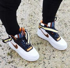 Nike Riccardo Tisci Air Force 1 Mid Leather Sneakers