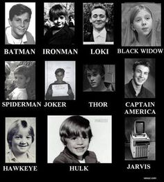 Nerd humor. Tom looks the same,still a adorable as ever! Jeremy (hawkeye) was and still is so cute! Lol