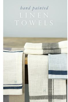 Even easier: Paint stripes onto white linen towels. | 21 Adorable DIY Projects To Spruce Up Your Kitchen