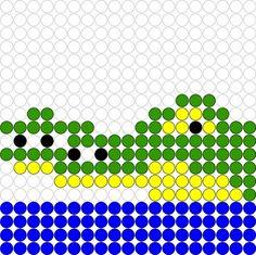 Kralenplank Krokodil, kan ook voor de strijkkralen..
