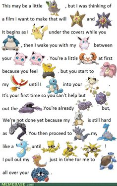 Pokemon just got dirty! Real Pokemon fans will know all the Pokemon names! This is too funny! Pokemon Memes, Pokemon Tattoo, Pokemon Funny, Pokemon Stuff, Pokeball Tattoo, Pokemon Party, Sexy Pokemon, Best Funny Pictures, Pinstriping