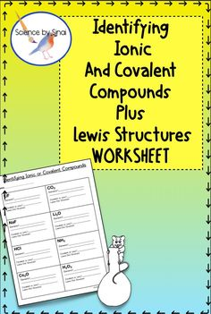 Great reinforcement of ionic and covalent compounds. Middle School Science, Elementary Science, Science Classroom, Teaching Science, Science Activities, Teaching Ideas, Interactive Activities, Science Ideas, Classroom Expectations