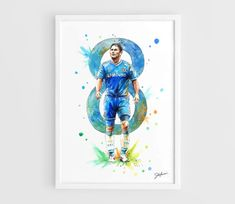 Frank Lampard Chelsea FC  A3 Art Prints of the by NazarArt on Etsy, $20.00