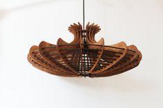 VERKOOP JELLYFISH_ hanger met lichte houten lamp