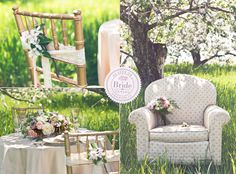 The Gold and Pastel decor as seen on BRIDE.