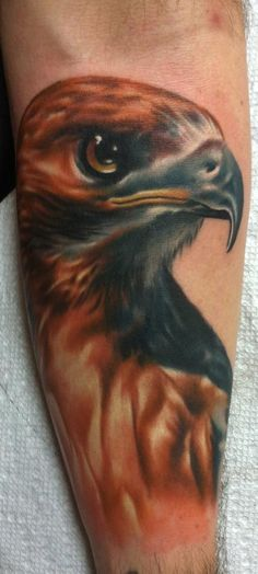 Ty McEwen - red tailed hawk tattoo