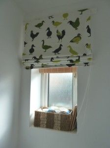 Easy roman blinds. Probably not the ducks, but I'd like to try them for a few rooms in my house ...