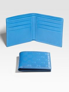 Black and brown wallets seem so boring when you can have a bright blue one!