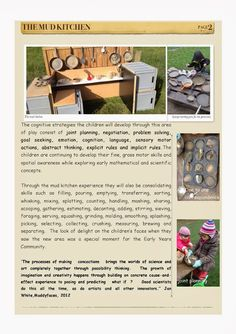 Early Learning at ISZL: Introducing the mud kitchen Play Based Learning, Learning Through Play, Early Learning, Kids Learning, Mobile Learning, Learning Quotes, Learning Centers, Reggio Classroom, Outdoor Classroom