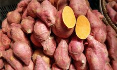 """The terms """"sweet potato"""" and """"yam"""" are used more or less interchangeably in the US, though the two vegetables are in fact unrelated. Whatever you call them, they are plentiful in the fall and delicious in many recipes."""