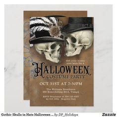 Gothic Halloween Costumes, Steampunk Halloween, Adult Halloween Party, First Halloween, Halloween Cards, Vintage Halloween, Halloween Pumpkins, Halloween Ideas, Halloween Costume Party Invitations