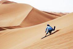 Sandboarding in Morocco's Sahara Desert