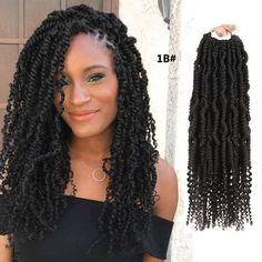 24 Strands Nubian Twists Crochet Braids Ombre Synthetic Braiding Bomb Kinky Twist Hair Extension For Fluffy Twist Short Hair Styles Easy, Short Hair Updo, Curly Hair Styles, Natural Hair Styles, Twist Braid Hairstyles, Crochet Braids Hairstyles, Hairstyles Videos, Dreadlock Hairstyles, Afro Twist