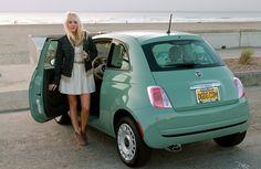 Mint Green Fiat 500