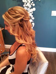 wedding hair , long hair , blonde, blonde hair ,  bridal hair, #hairbyelena