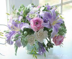 Композиции : Букет с каменными розами (по мотивам) - Fito Art