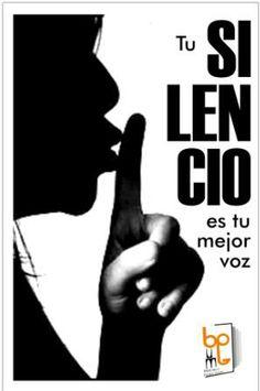 Afiche campaña del silencio, forma parte de las piezas (afiches) que se diseñaron para promover un ambiente de silencio en las salas de la biblioteca. Calamari, Shape, Retro Futurism, Libraries, The Voice, Parts Of The Mass, Thanks, Reading