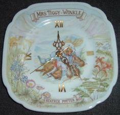 Royal Albert - Mrs Tiggy winkle--Clock Plates - Collector Plates www.royalalbertpatterns.com
