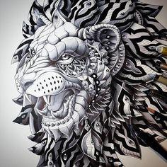 Zentagle lion l follow me @hadynperler