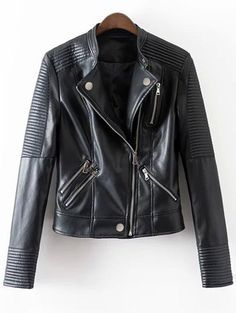 SHARE & Get it FREE | Embossed PU Leather Motocycle Jacket - BlackFor Fashion Lovers only:80,000+ Items • New Arrivals Daily Join Zaful: Get YOUR $50 NOW!