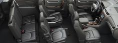 2015 Chevy Traverse interior design - everything but fuel efficiency.