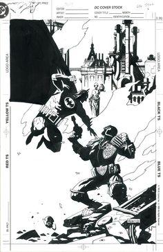 Mike Mignola - Batman vs Judge Dredd Comic Art