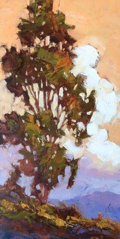 EUCALYPTUS, IMPRESSIONIST OIL by TOM BROWN -- Tom Brown