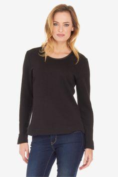 Textured Zip Sleeve Pullover