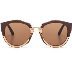 Marni Eyewear (€390) ❤ liked on Polyvore featuring accessories, eyewear, sunglasses, glasses, access, brown, acetate sunglasses, round sunglasses, acetate glasses and marni sunglasses