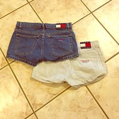 Tommy jeans shorts ! Super cute for summer time! Size 5, I would say for more like a 0-2.  Selling both together ! Tommy Hilfiger Shorts Jean Shorts